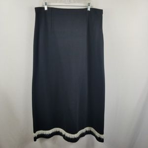 Hanna Andersson Women's Black Skirt Size XL Long